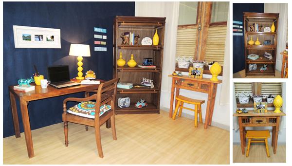 Decoração Terra Nossa - Home office com móveis e objetos da loja