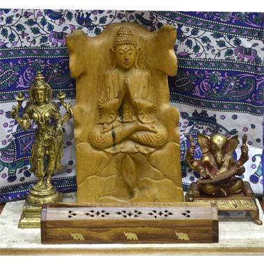 cantinho da meditação buda, ganecha, shiva, orintal, esotérico, manta